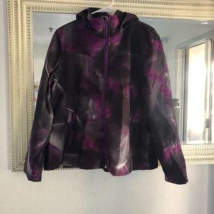 Purple marble winter/rain jacket